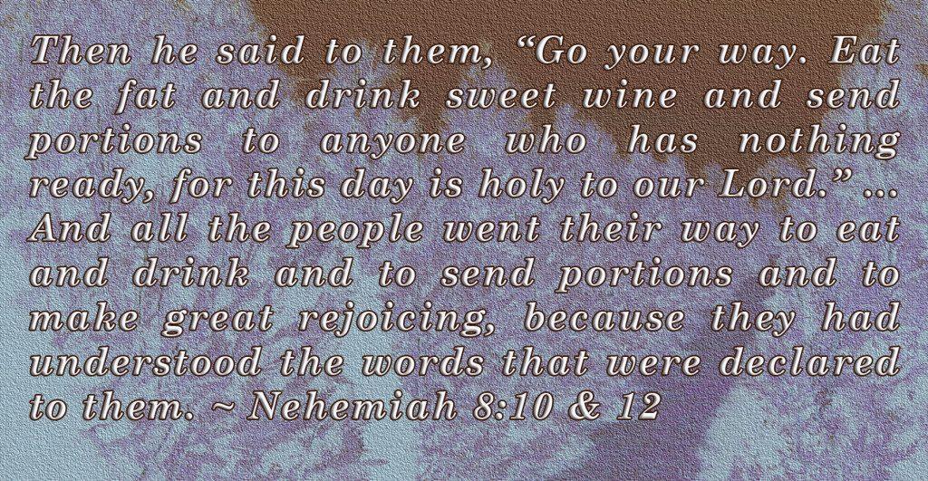Nehemiah 8: 10-12